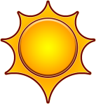 8-CS Sun Emblem
