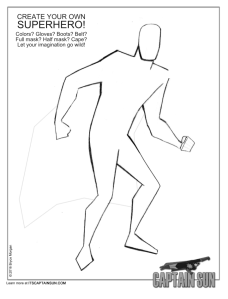 Create Your Own Hero Worksheet